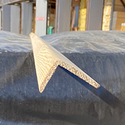 Уголок деревянный гладкий  40x60х3м