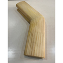 Поворот поручня 50х70  135 градусов деревянный