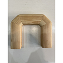 Поворот поручня 50х70  180 градусов деревянный