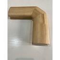Поворот поручня 60х80  90 градусов деревянный