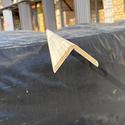 Уголок деревянный гладкий 40x40х3м